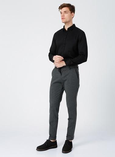 NetWork Network Slim Fit Siyah Erkek Gömlek Siyah